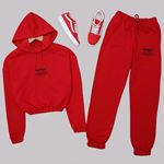 Kırmızı Baskılı Eşofman Takımı TKM1481