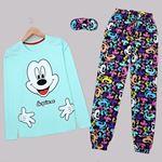 Mint Baskılı Pijama Takımı PJM1435