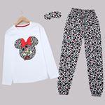 Beyaz Baskılı Pijama Takımı PJM1437